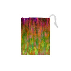 Abstract Trippy Bright Melting Drawstring Pouches (XS)