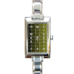 Pixel Gradient Pattern Rectangle Italian Charm Watch