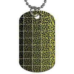 Pixel Gradient Pattern Dog Tag (Two Sides)
