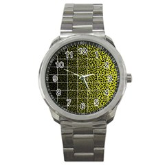 Pixel Gradient Pattern Sport Metal Watch