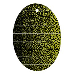 Pixel Gradient Pattern Oval Ornament (two Sides)