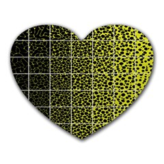Pixel Gradient Pattern Heart Mousepads