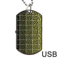 Pixel Gradient Pattern Dog Tag USB Flash (Two Sides)