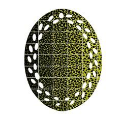 Pixel Gradient Pattern Ornament (Oval Filigree)
