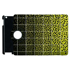 Pixel Gradient Pattern Apple iPad 2 Flip 360 Case