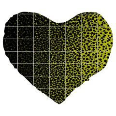 Pixel Gradient Pattern Large 19  Premium Heart Shape Cushions