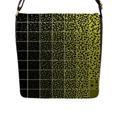 Pixel Gradient Pattern Flap Messenger Bag (L)