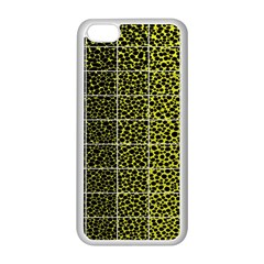 Pixel Gradient Pattern Apple iPhone 5C Seamless Case (White)