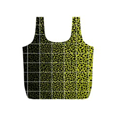Pixel Gradient Pattern Full Print Recycle Bags (S)