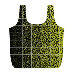 Pixel Gradient Pattern Full Print Recycle Bags (L)