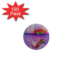 Glitch Art Abstract 1  Mini Magnets (100 Pack)