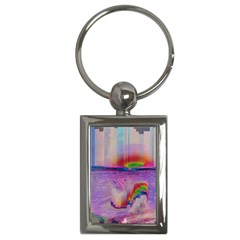 Glitch Art Abstract Key Chains (Rectangle)