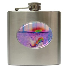 Glitch Art Abstract Hip Flask (6 oz)