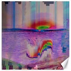 Glitch Art Abstract Canvas 20  X 20