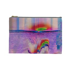 Glitch Art Abstract Cosmetic Bag (large)
