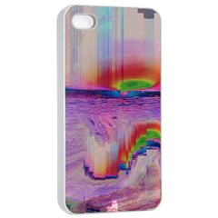 Glitch Art Abstract Apple iPhone 4/4s Seamless Case (White)