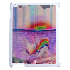 Glitch Art Abstract Apple iPad 2 Case (White)