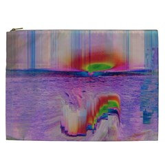 Glitch Art Abstract Cosmetic Bag (XXL)