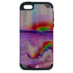 Glitch Art Abstract Apple iPhone 5 Hardshell Case (PC+Silicone)