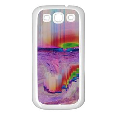 Glitch Art Abstract Samsung Galaxy S3 Back Case (White)