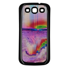 Glitch Art Abstract Samsung Galaxy S3 Back Case (Black)