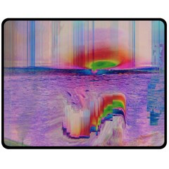 Glitch Art Abstract Double Sided Fleece Blanket (medium)
