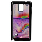 Glitch Art Abstract Samsung Galaxy Note 4 Case (Black) Front