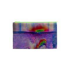Glitch Art Abstract Cosmetic Bag (XS)