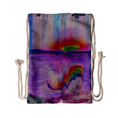 Glitch Art Abstract Drawstring Bag (small)