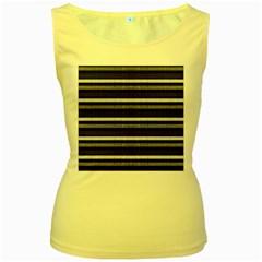 Lines Women s Yellow Tank Top