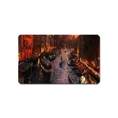 River Venice Gondolas Italy Artwork Painting Magnet (Name Card)