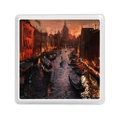 River Venice Gondolas Italy Artwork Painting Memory Card Reader (square)