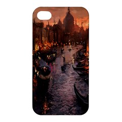 River Venice Gondolas Italy Artwork Painting Apple iPhone 4/4S Hardshell Case