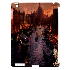 River Venice Gondolas Italy Artwork Painting Apple iPad 3/4 Hardshell Case (Compatible with Smart Cover)