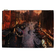 River Venice Gondolas Italy Artwork Painting Cosmetic Bag (xxl)