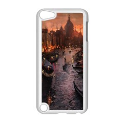 River Venice Gondolas Italy Artwork Painting Apple iPod Touch 5 Case (White)