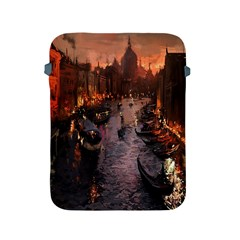River Venice Gondolas Italy Artwork Painting Apple iPad 2/3/4 Protective Soft Cases