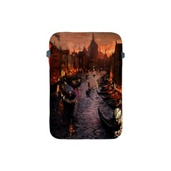 River Venice Gondolas Italy Artwork Painting Apple Ipad Mini Protective Soft Cases