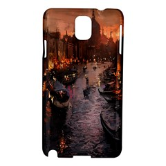 River Venice Gondolas Italy Artwork Painting Samsung Galaxy Note 3 N9005 Hardshell Case