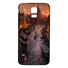 River Venice Gondolas Italy Artwork Painting Samsung Galaxy S5 Back Case (White)