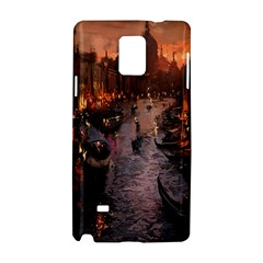 River Venice Gondolas Italy Artwork Painting Samsung Galaxy Note 4 Hardshell Case