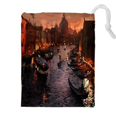 River Venice Gondolas Italy Artwork Painting Drawstring Pouches (xxl)