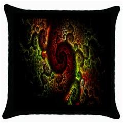 Fractal Digital Art Throw Pillow Case (Black)