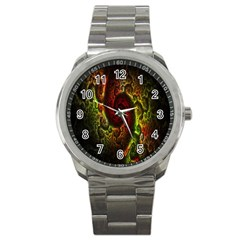 Fractal Digital Art Sport Metal Watch