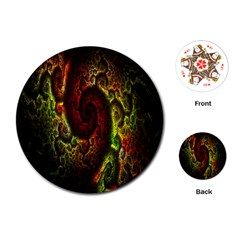 Fractal Digital Art Playing Cards (Round)