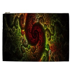 Fractal Digital Art Cosmetic Bag (XXL)