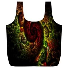 Fractal Digital Art Full Print Recycle Bags (L)