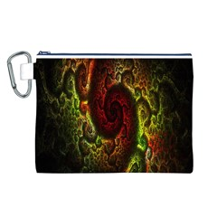 Fractal Digital Art Canvas Cosmetic Bag (l)