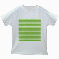 Lines Kids White T-Shirts