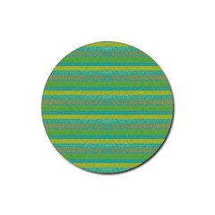 Lines Rubber Round Coaster (4 pack)